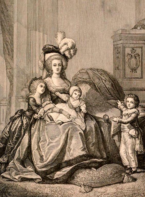 María Antonieta y sus hijos