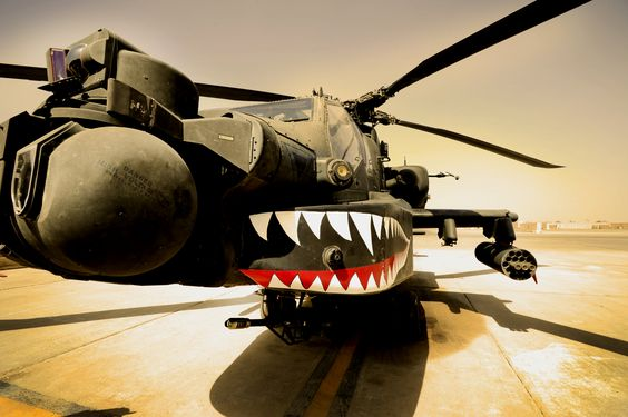Cool Apache, cool nose art, cool photo.