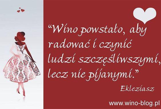 Wino powstało, aby radować i czynić ludzi szczęśliwszymi, lecz nie pijanymi.