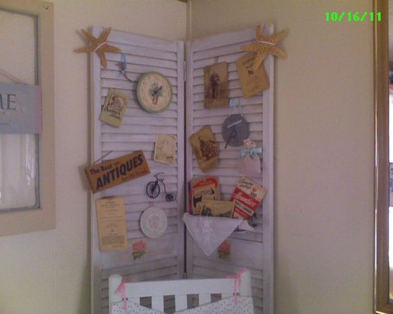 Decorating with Old Shutters | decorating with old shutters | These shutter doors I dressed up with ...