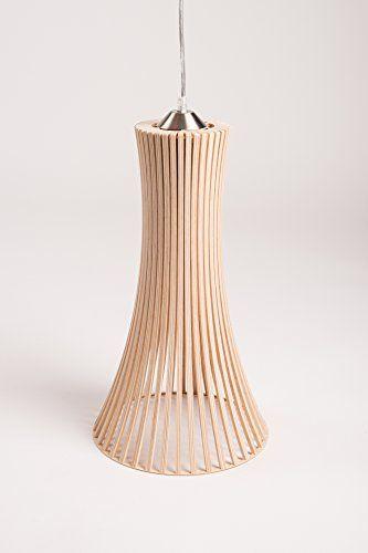 MK Design plafonnier lustre suspension en bois Kavia XL naturel ...