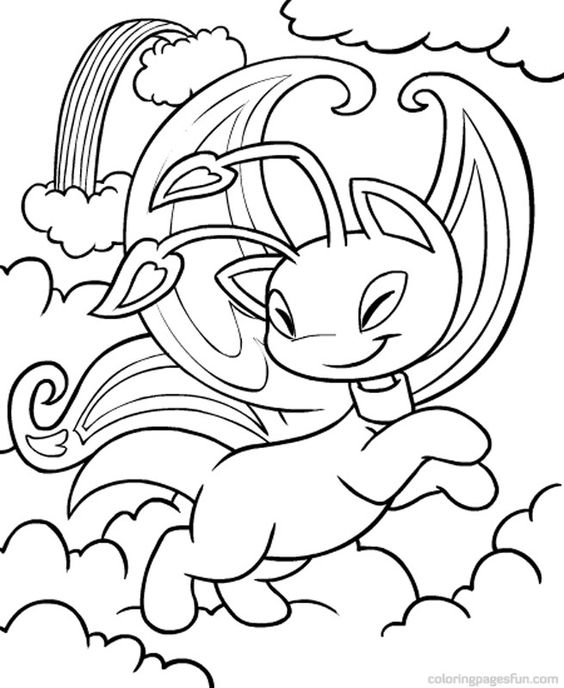 Neopets – Faerieland Coloring Pages 4