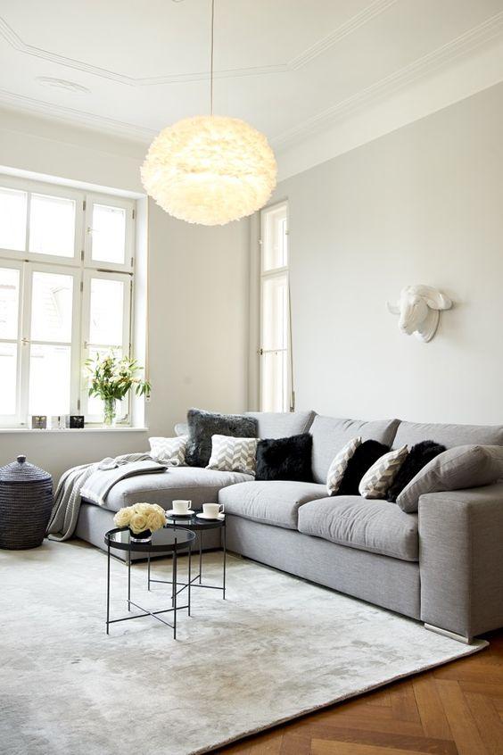 farbe wohnzimmer graues sofa inspiration. Black Bedroom Furniture Sets. Home Design Ideas