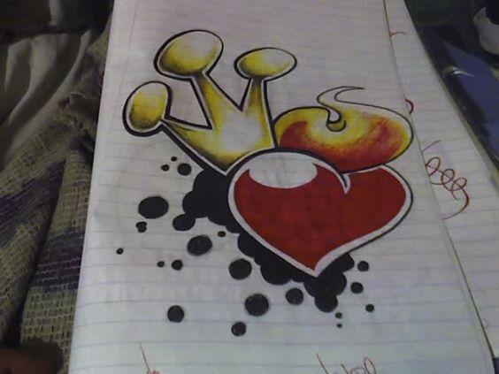 graffitis de corazones , Buscar con Google