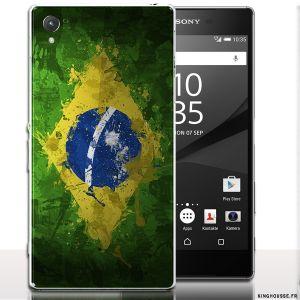 Coque smartphone xperia z5 Bresil - Drapeau. #smartphone #Coque #etui #Z5 #Bresil