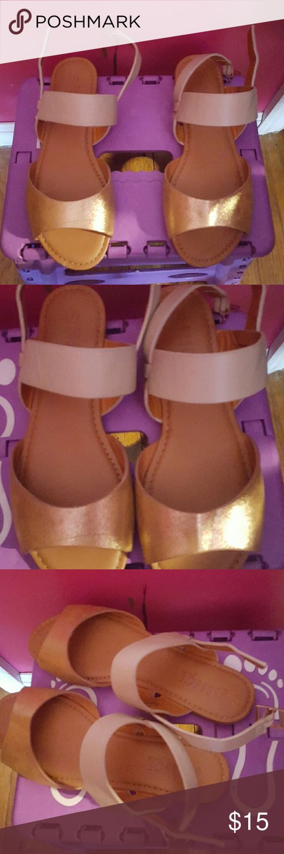 Cute Sandals worn twice, just bought them so great condition Rouge Shoes Sandals