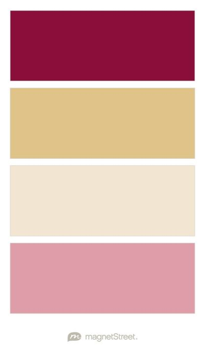 Blush wedding colors wedding color palettes and blush weddings on pinterest - Color schemes with maroon ...