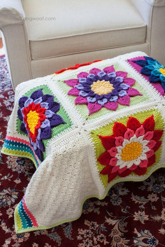 My Labor of Love: Crocodile Flower Afghan Stitches ...