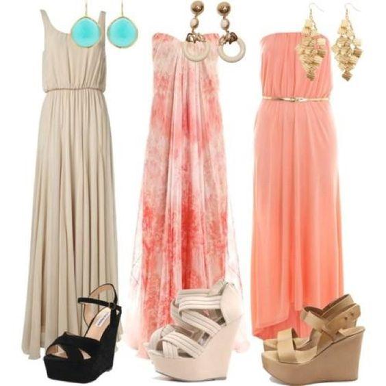 Maxi dresses & wedges <3