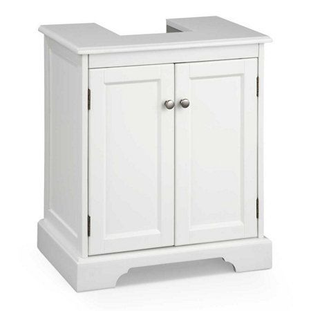 """Weatherby Bathroom Pedestal Sink Storage Cabinet  Exclusive! Item #511659 $149.99 Dimensions:Overall: 21""""W x 14""""D x 24""""H Cutout: 8""""W x 8-1/2""""D Base: 3-1/2""""H Inside: 17""""W x 13""""D (including cut out) Weight:27 lbs."""