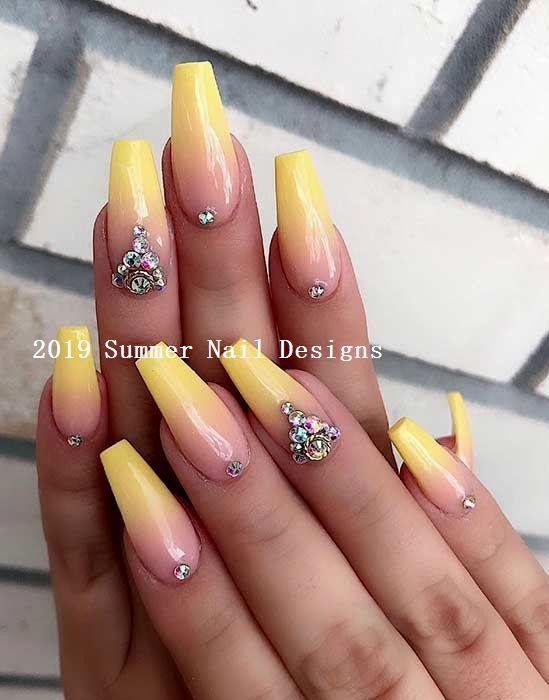 33 Cute Summer Nail Design Ideas 2019 Nail Summernails Ombre