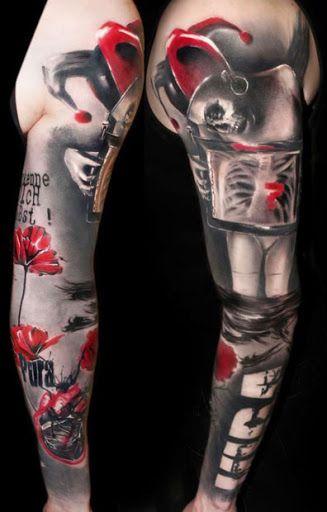 Abstract Joker Tattoo by Buena Vista Tattoo Club?