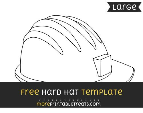 Free Hard Hat Template Large Hat Template Hard Hat