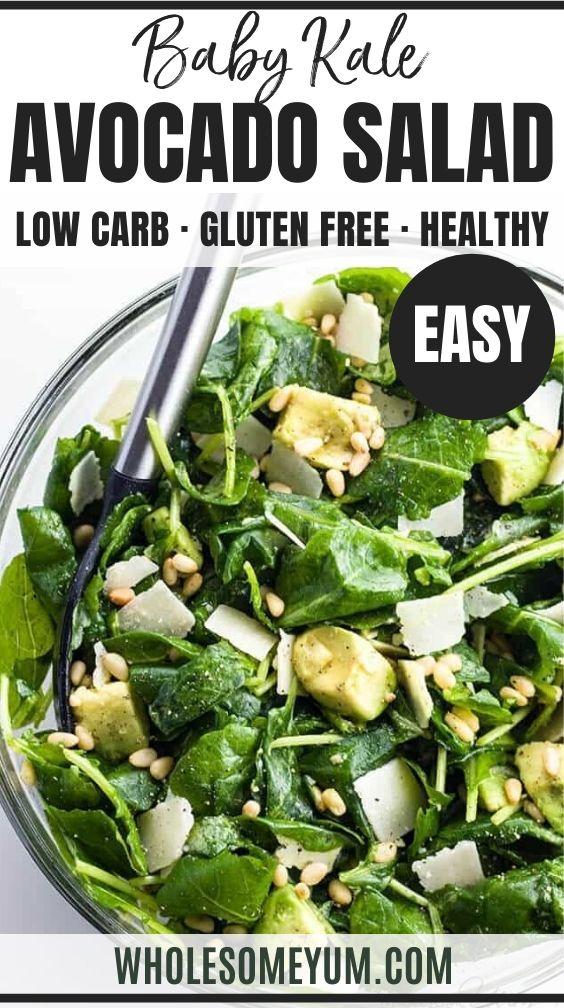 Baby Kale Avocado Salad Recipe