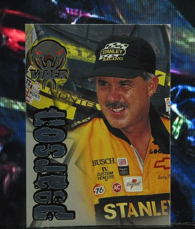 http://nascarniche.blogspot.com/  Larry Pearson 1996 Wheels Viper Trading Card #51 Base Set Nascar