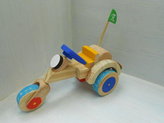 Moto Triciclo De Madeira 3