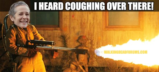 I heard coughing over there!