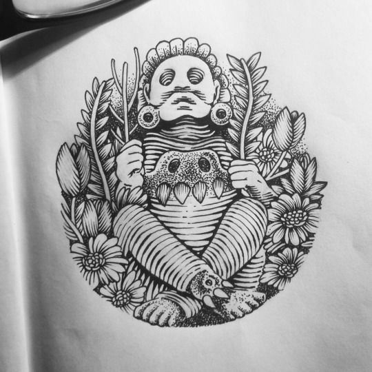 Resultado de imagen para xochipilli tatuaje