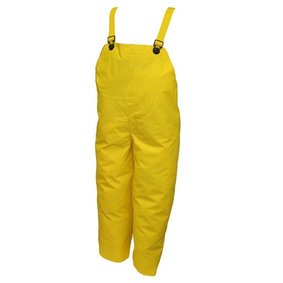 The double-coated PVC on this polyester suit offers durability at an economy price. Extremely high tear strength is the result of an open weave polyester scrim fabric being sandwiched between two laye