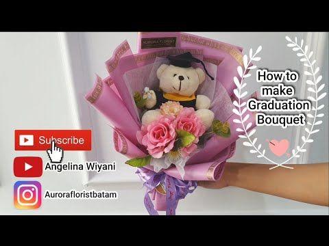 How To Wrap A Graduation Bouquet How To Make Graduation Bouquet Cara Membuat Buket Bunga Wisuda Youtube Graduation Bouquet Bouquet Tutorial Bouquet
