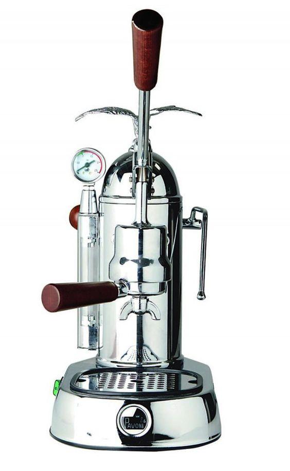 La Pavoni Romantica Espresso Machine - Chrome - Professional 16 Cup