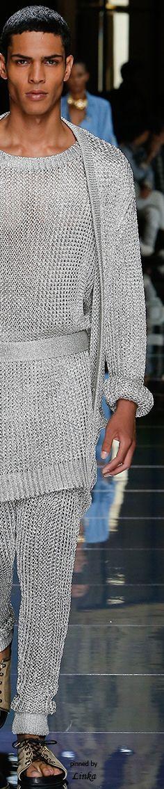 Balmain Spring 2017 Menswear Collection~pinned by Linka Crosby