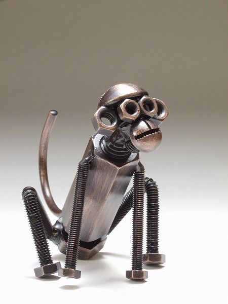 It is made by only Bolts and Nuts. There are more interesting objects. I like him.  I like him a lot!: