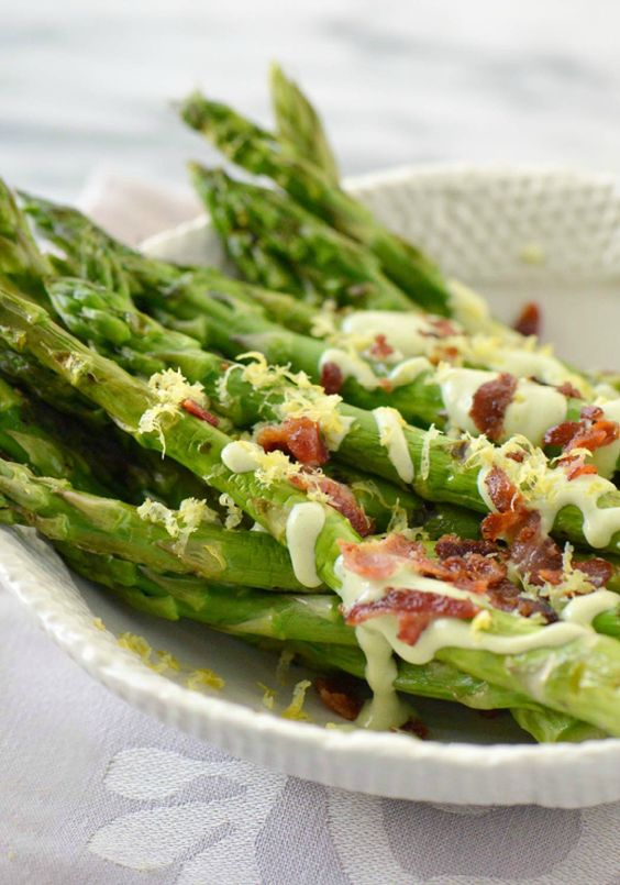 Grilled asparagus, Mustard dressing and Asparagus on Pinterest