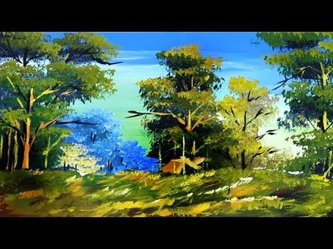 Acrylic Painting Scenery Drawing Of Nature Forest Drawing Forest Drawing Poster Color Painting Landscape Paintings