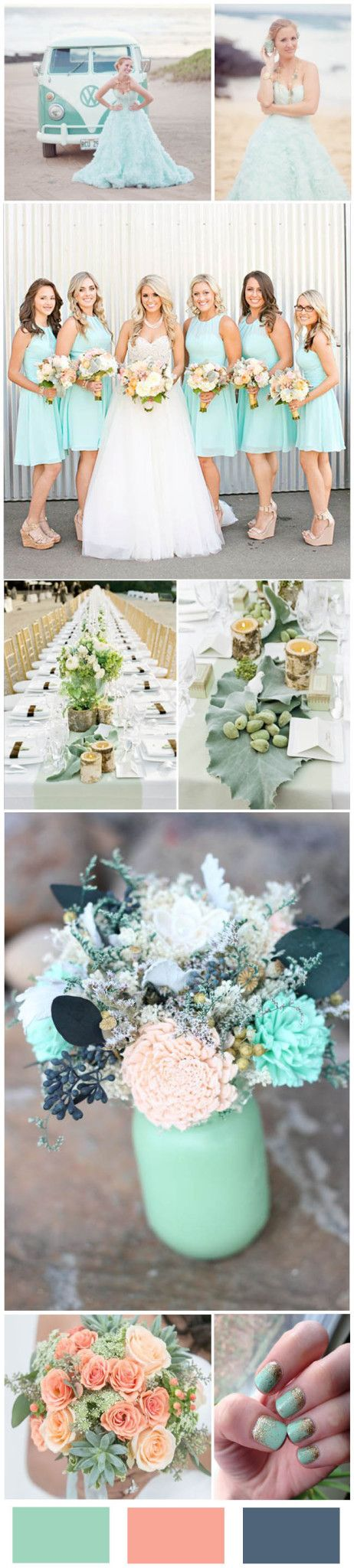 30  Mint Wedding Color Ideas For the Bride to Be   http://www.weddinginclude.com/2016/05/mint-wedding-color-ideas/