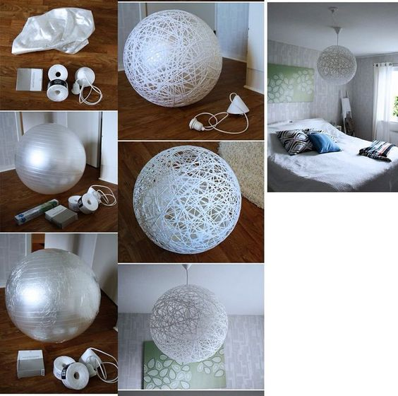 homemade chandelier - Google Search