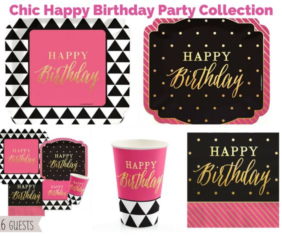 Chic Happy Birthday Party Banner