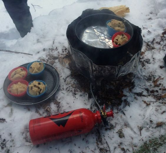 Supper while winter camping. From wintercamping.com