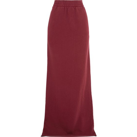 Vetements Printed cotton-blend jersey maxi skirt (5,675 CNY ...