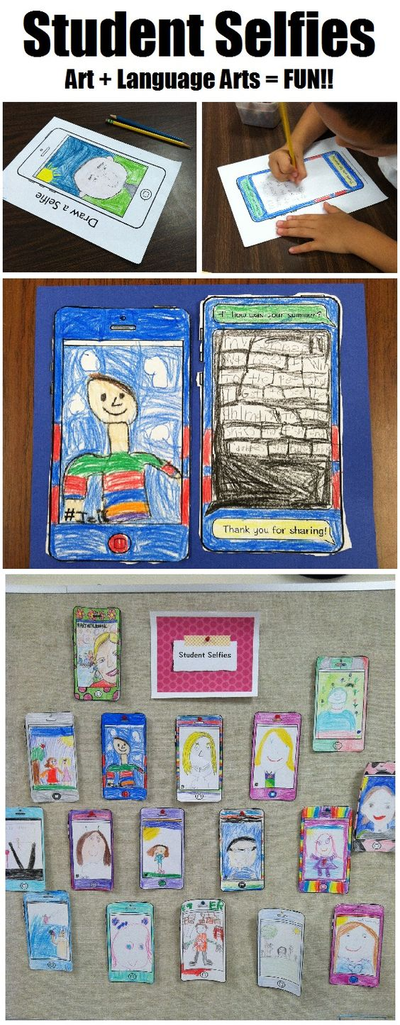 All about me drawing writing great back to school for Modern bulletin board