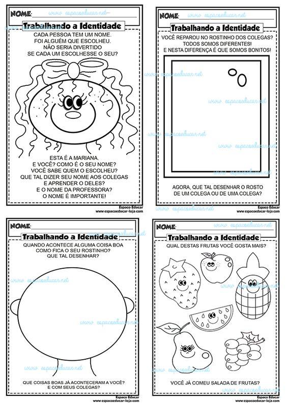 AtividadesTrabalhando a identidade com a Educação Infantil apostila digital envio por e-mail - ESPAÇO EDUCAR