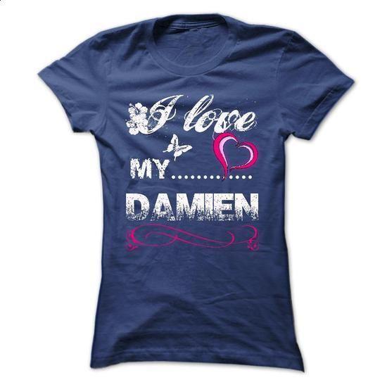 DAMIEN, I LOVE MY DAMIEN. - #football shirt #red hoodie. BUY NOW => https://www.sunfrog.com/Names/DAMIEN-I-LOVE-MY-DAMIEN.html?68278