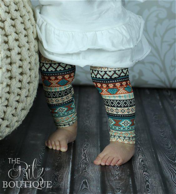 Kids clothing Cute leggings and Baby girls on Pinterest