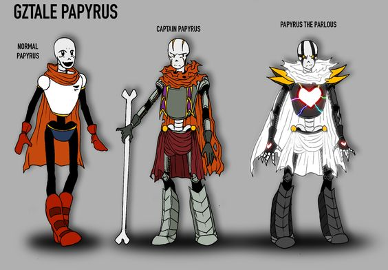 Papyrus references | GZTALE by GolzyBlazey.deviantart.com on @DeviantArt