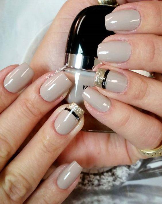 Frech gray nail