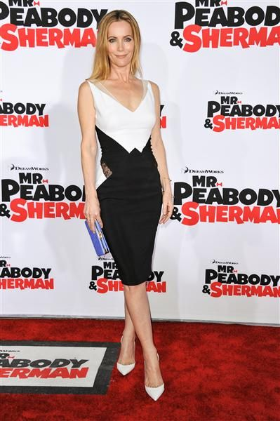 """Leslie Mann arrives at the premiere of """"Mr. Peabody & Sherman"""" in Los Angeles on March 5, 2014."""