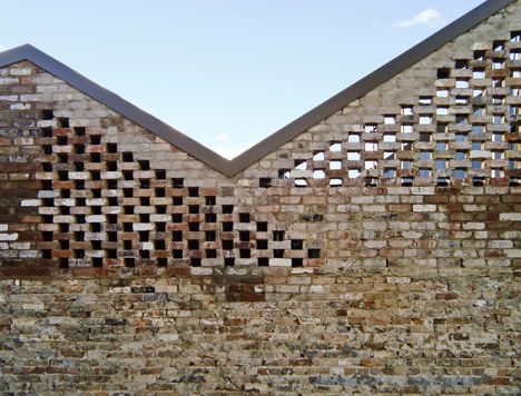 Bricks architecture and brick walls on pinterest for Perforated brick wall