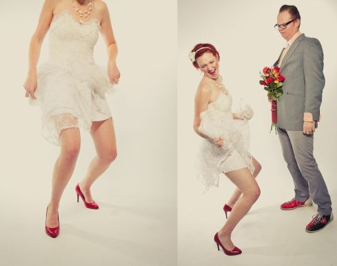 A deliberately awkward wedding shoot!