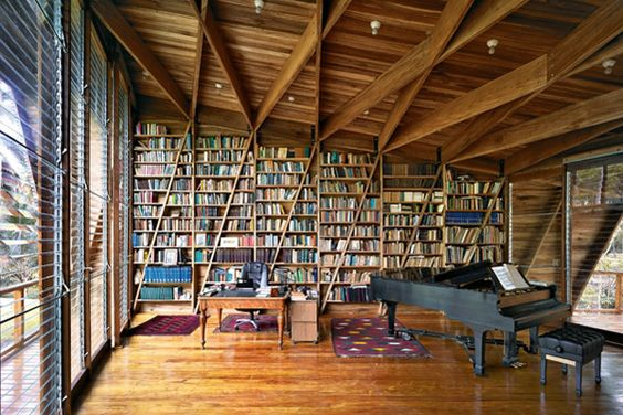 15 modern houses around the world. That piano room....
