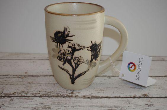 New LARGE Spectrum BEE Mug~ Stoneware ~Beautiful~ #Spectrum