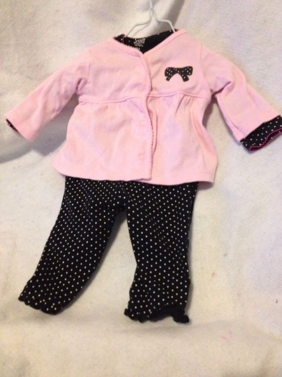 Polka Dot Grandma's Little Girl Infant Onsie Creeper, Jacket, Pants 6 Mo  3 Pc #Carters #DressyEverydayHoliday