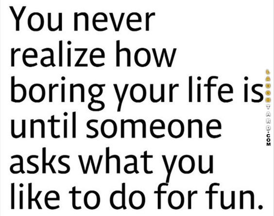You never realize: