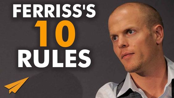 Tim Ferriss's Top 10 Rules For Success - http://www.flickr.com/photos/134796801@N04/19317528454/