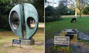 Two Forms (Divided Circle) by Barbara Hepworth which has been stolen from…