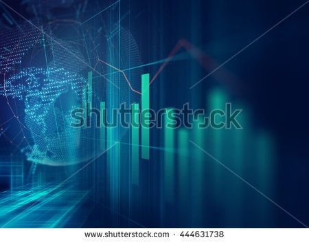 financial graph on technology abstract background represent financial…